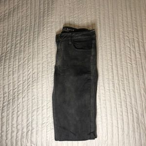 American Eagle Gray Faded Jeggings